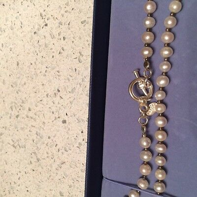 Laura Ashley Sterling Silver And Cultured Pearl Necklace
