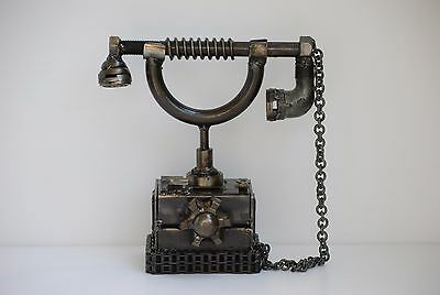 Telephone Vintage Metal Sculpture Gift for Anniversary
