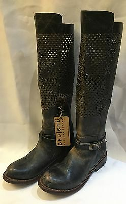 NEW Bed Stu 7.5 Biltmore Black Lux distressed leather boots