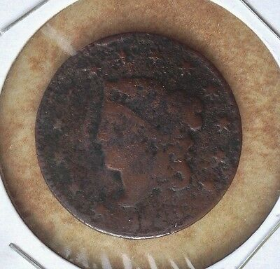 1829 1C Coronet Head LARGE CENT copper coin