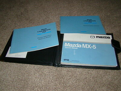 Mazda Mx5 Mk2 2.5 Owners Leather Wallet With Manuals