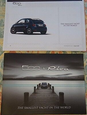 Fiat 500 Riva Super Yacht Limited Edition Brochure 2016 & August 2016 Price List