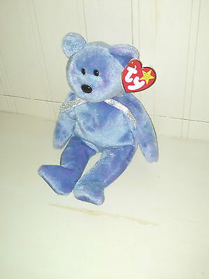 Ty Beanie Babies Clubby II the Official Club Bear Purplish Blue 1999