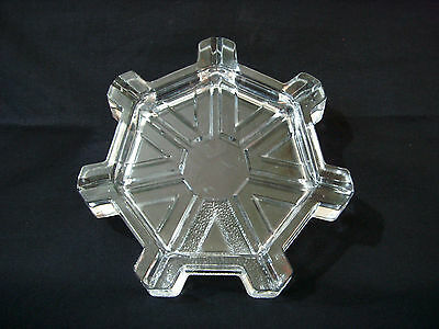 Eye Catching Vintage Lead Glass Decorative Window Sill Snowflake or Ashtray