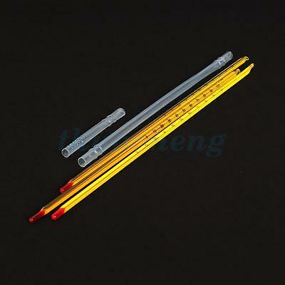 300MM Length Glass Celsius Thermometer Heat Proof Resistant For Laboratory