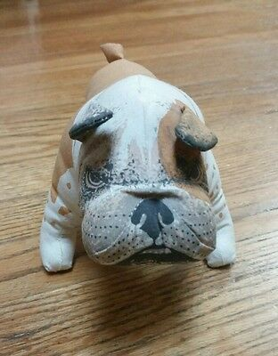 STUFFED Bulldog MADE IN ENGLAND BRENDA TOYS 8'' Plush
