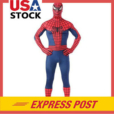 Spiderman Superhero Costume Christmas Party Adult Cosplay jumpsuit Fancy Dress