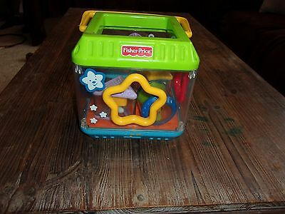 Fisher Price Peek Blocks Inteteractive Shape Sorter Triangle Star Circle Square