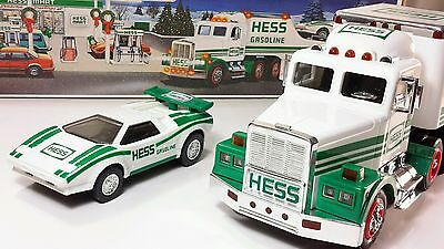 1991 HESS Truck Toy Truck and Racer Some Box Wear