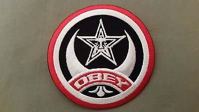 obey star embroidered patch
