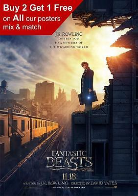Fantastic Beasts And Where To Find Them Movie Poster Print A5 A4 A3 A2 A1