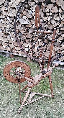 ANTIQUE RARE AND BEUTIFUL LOOKING LITHUANIAN SPINNING WHEEL (Violin shape base)