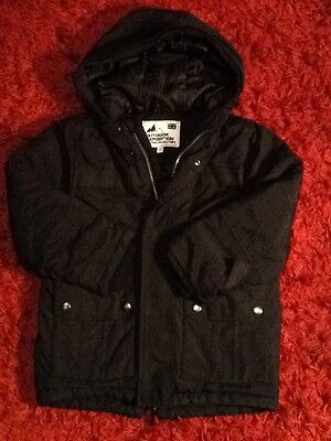 M&S Outdoor Expedition Black Hooded Jacket/Coat 5-6yrs
