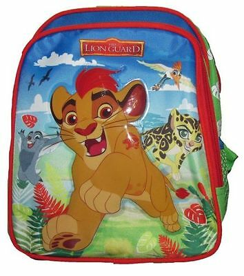 "2016 Disney Lion Guard Kids 10"" Canvas Red School Backpack"