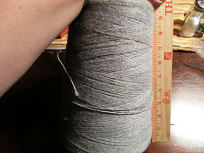 Large Spool or Cone of Fine Gray Yarn