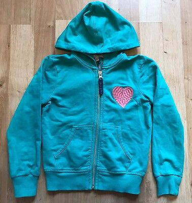 Beautiful Jade Green Full Zip Hoody Hoodie Jacket by M&S. Pink Heart. 5-6 Years