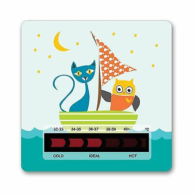 Owl & Pussycat Bath Thermometer Card from Baby Safe Ideas