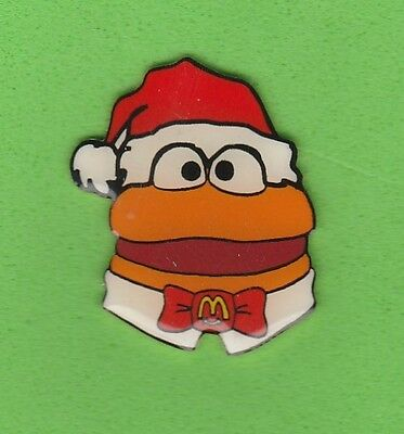 McDonald's *Hamburger* Christmas McDonalds Pin / Pins ~HTF~