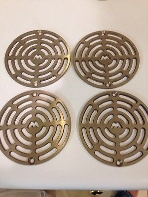 Lot Of 4 Brass Drain Cover New 4 4 1/2""