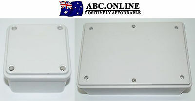 Adaptable Junction box Grey PVC Electrical Square Rectangle