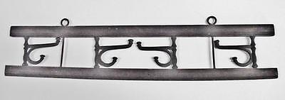 Old Hanging Hat Rack with Cast Iron Hooks