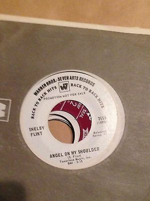 Shelby Flint angel on my shoulder/cast your fate to the wind  45rpm promotional