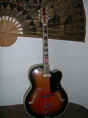 Beautiful 1960's All Solid Wood Rodebald Hoyer Acoustic-Electric Jazz-Guitar
