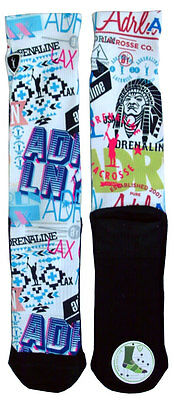 ADRENALINE Vendetta Technical Lacrosse Sock Large/Extra Large Multi - NEW