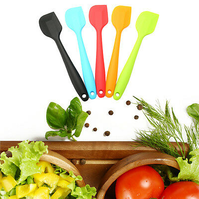 New Silicone Cake Cream Butter Spatula Mixing Baking Scraper Brush Rubber Tool