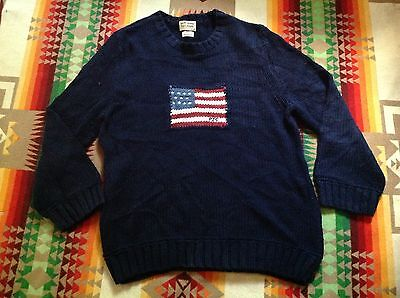 Ralph Lauren Polo Jeans Young USA Flag Sweater Size XL