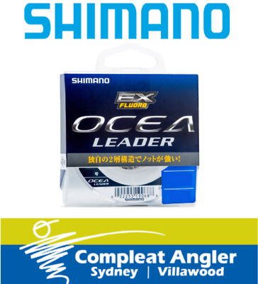 Shimano Ocea EX 50m 12lb Fluorocarbon Fishing Leader BRAND NEW At Compleat Angle