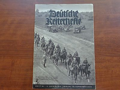 "Ww2 1939 Germany Cavalry Magazine~Horses In War~Wehrmacht ""deutfche Keiterhefte"""