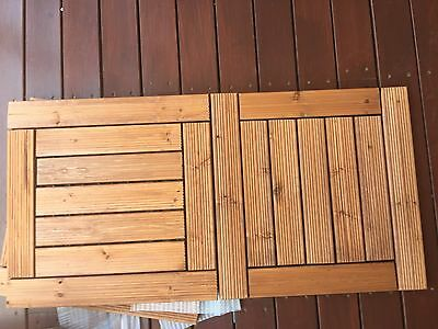 8 Boxes BRAND NEW Floor Decking Tiles Solid Timber Wood, 9 PC per Box, Outdoor