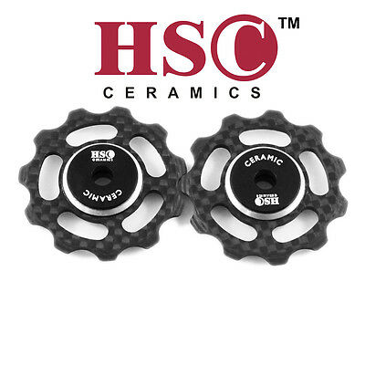 HSC Ceramic Carbon Fiber Bike Jockey wheel/Derailleur Pulley 10/11 Speed