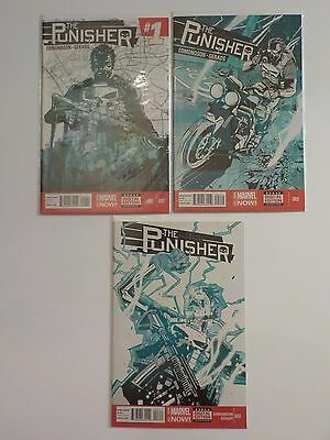 Marvel Comics Marvel Now THE PUNISHER  #1 2 3 Lot Run Edmondson