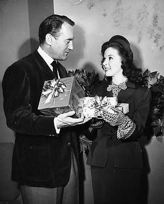 Susan Hayward And George Sanders Christmas  8X10 Photo