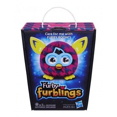 Furby Furbling Creature  -Purple Houndstooth ** Brand New In Box**