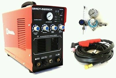 Simadre 3In1 110/220V 50A Plasma Cutter 200A Tig Arc Mma Welder Ag60 Torch Argon