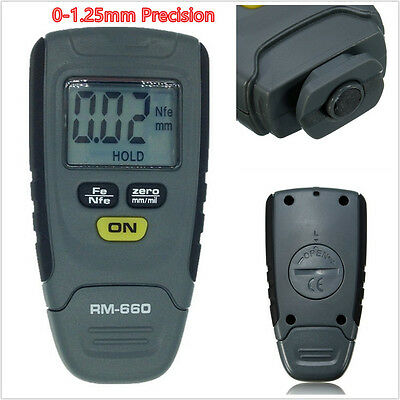 Portable SR2120B 0-1.25mm Precision Car Paint Coating Thickness LCD Gauge Meter