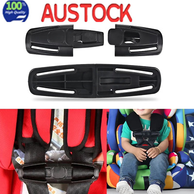 4pcs Baby Chest Safe Harness Car Seat HOUDINI Stop Strap Lock Safety Buckle Clip