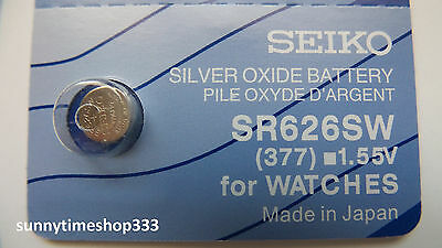 SR626SW/377, Seiko Watch Battery, Made in Japan, Silver Oxide, 1.55V