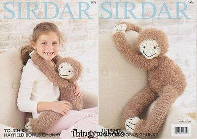 Sirdar 2476 Knitted Gordon The Sloth Original Knitting Pattern - Touch Yarn