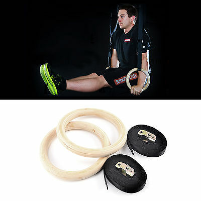 Anneaux Gymnastique Gym Olympique Fitness Crossfit Training Ring PullUp Sangle