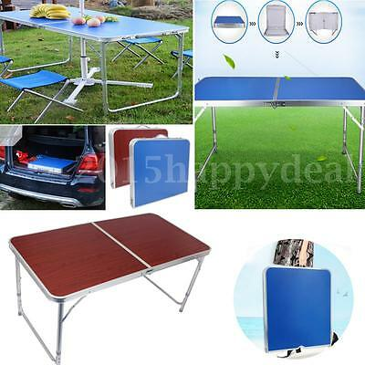 4FT Adjustable Folding Table Garden Camping BBQ Picnic Party Outdoor Heavy Duty