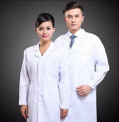 New Scrub Medical Doctor's Jacket  Mens Womens White Lab Coat