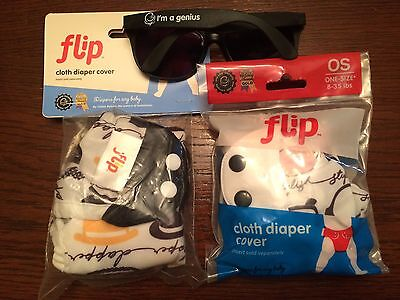 NIP New Lot Of 2 Bumgenius Flip Diaper Covers Audrey & Chaplin