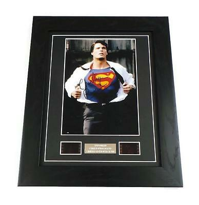 CHRISTOPHER REEVE Signed PREPRINT + SUPERMAN FILM CELL MOVIE MEMORABILIA GIFTS