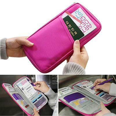 Multifunction Credit Card ID Holder Travel Storage Bag Passport Wallet Polyester