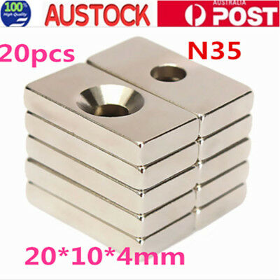 20X N35 Super Strong Magnet Block Rare Earth Neodymium Magnet 20x10x4mm AU Stock