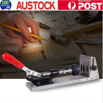 Pocket Hole Jig Set Step Position System Woodworking Drill Guide Locator